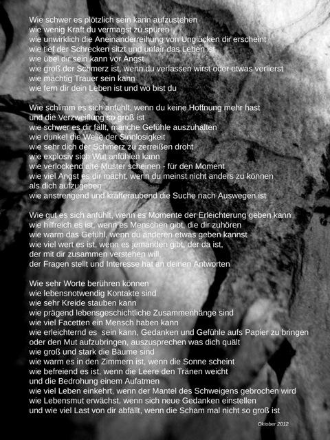 "Gedicht ""Aufatmen"" als Grafik"